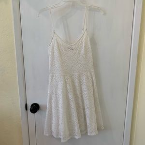 White Lace Spaghetti Strap Sundress